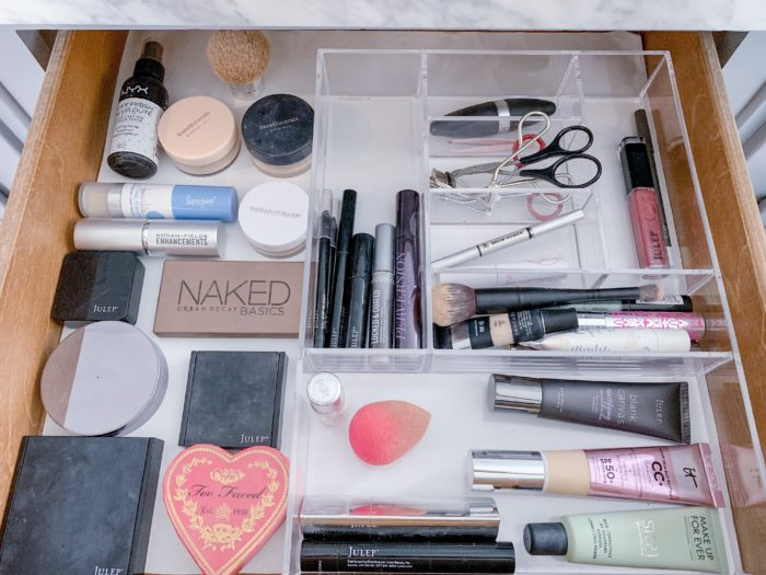 I cleaned out my make up drawer during my Konmari Konomo Step 3 work.  See how I completed it and what I kept on the blog!