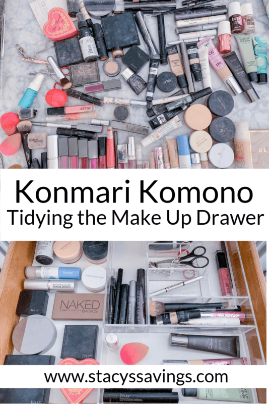 Konmari | Konmari Method | Organization | Makeup | Komono | Makeup Organization | Beauty | Beauty Products | Beauty Organization | Tips | Ideas | Spring Cleaning | Beauty Organization Ideas | #konmari