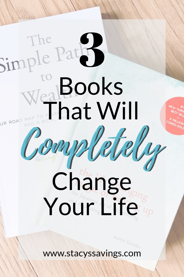 3 Books that will completely change your life. These life Changing books are on different topics but work together to help simplify your life forever.
