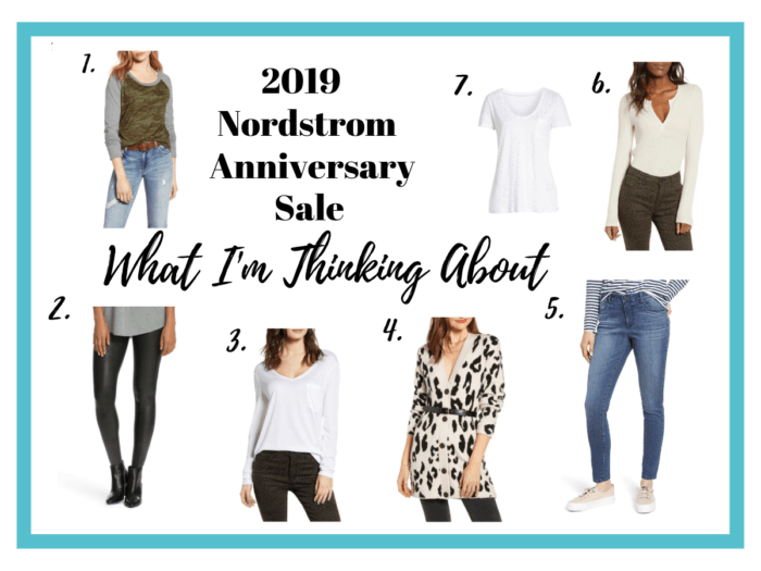 It's the 2019 Nordstrom Anniversary Sale!  I'm stocking up on basics and adding a few new pieces.  This is what I am thinking about buying in the sale!