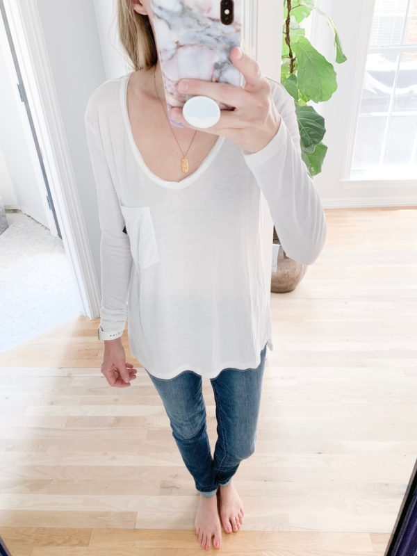 See everything I bought at this year's Nordstrom Anniversary Sale, including this BP long sleeve tee. What I got, what I thought, what I kept, and what's going back.
