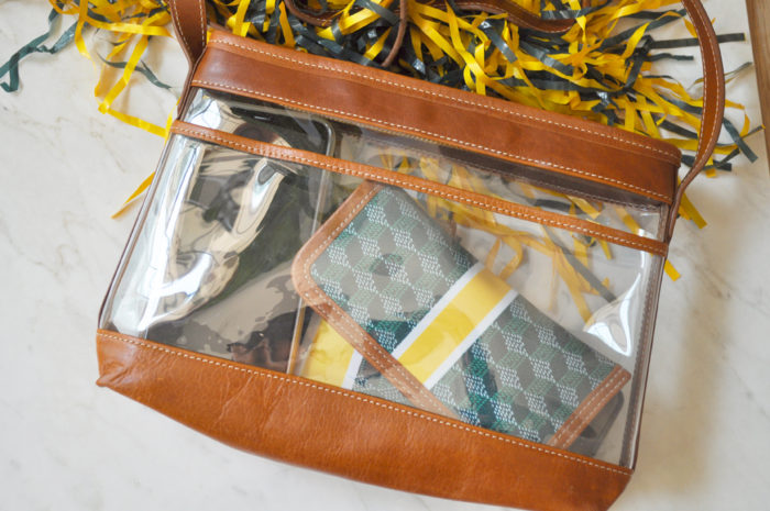 I've found the best game day clear bag! Read more on the blog to see why this is the best game day clear bag and where you can get one too!