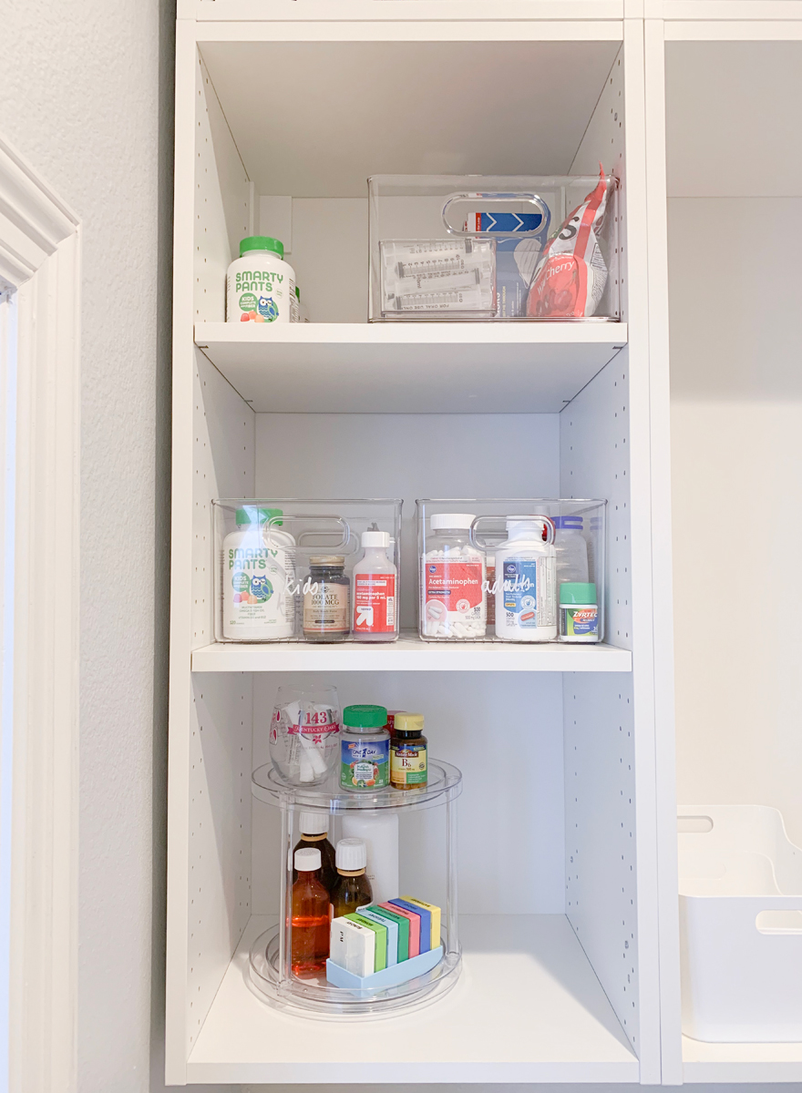 How I Organized The Medicine Cabinet