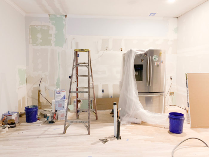 We're 9 weeks into our DIY kitchen remodel! See all of our kitchen remodel progress up to this point on the blog!