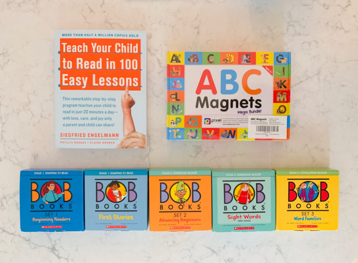 See what I ordered from Amazon in November & December 2019 including these learn to read materials for my daughter!
