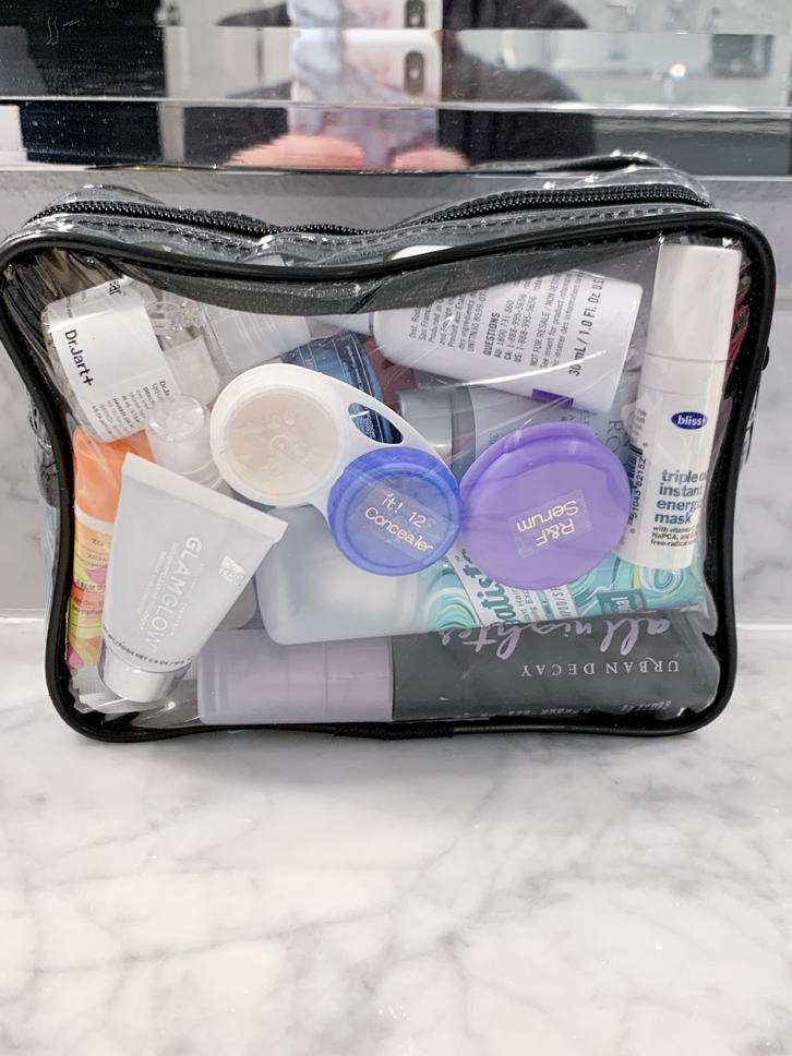See what I ordered from Amazon in November & December 2019 including this quart clear toiletry travel bag for flying!